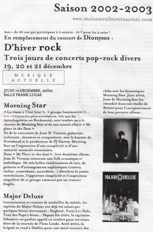 Major Deluxe 2002 flyer 4